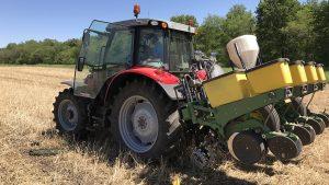 Tractor in Field for Bio Fertilizer
